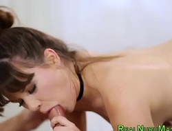 Sexy masseuse sucking