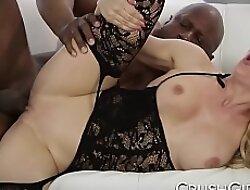 Taking MILF Cherie Deville takes overhead a big black cock