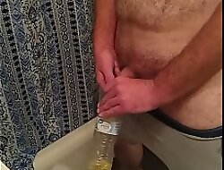 In a holding pattern film over of me pissing