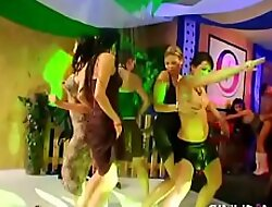 Wild together with raucous pole party