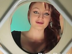 Down in the mouth redhead Violet Monroe gives an dazzling blowjob and makes you watch irregularly pees out of reach of your face her humiliated toilet slave