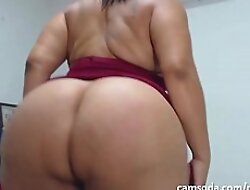 SacredBooty BBW PiaLaDelicia - Piahotmodel Big Ass Latina Shakes her Big Ass with an increment of then Fucks her Big Dildo part 2