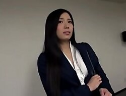 Asian Secretary nearby Pantyhose coupled with Toffee-nosed Heels Molested