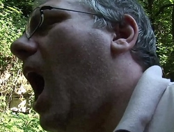 On a trip in the woods with her uncle turns into a wild fuck on the grass