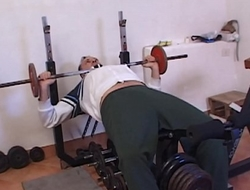 Young slut in the gym sucks the cock of a of age customer
