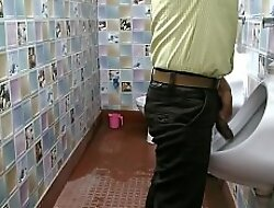 Spy cam in Office toilet. Staff caught peeing
