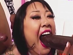 Asian Slut Fucks Two BBC- Rico Strong