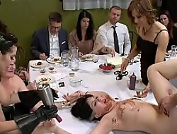 Tied and fucked and public bouillon course
