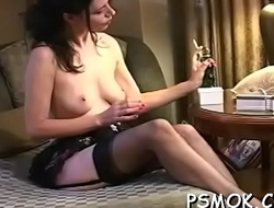 Smokin' and pleasing her dude