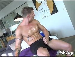 Blowjob from gay massage therapist