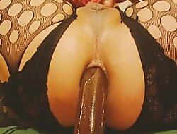 bouncing ultra throb subfusc dildo deeply embedded hither asspussy