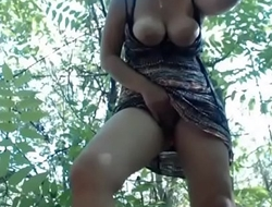 Hot slut live pussy masturbating from the forest