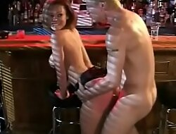 Busty Tokyo strumpet gets drilled by American lucky guy