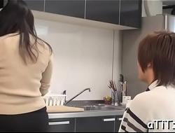 Naughty big breasts japanese blowjob