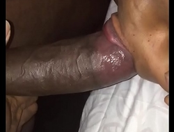 wife sucks her own juices off BBC for an oral creampie