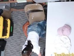 Reality teen shoplifter throating