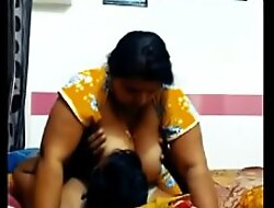 Indian Mom ride Son big boos