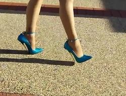 Best Mom Flashing in 7 Inch Heels. See pt2 at goddessheelsonline.co.uk
