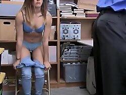 Officer fucks female who mantle condoms