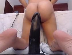 MILFSEXYCAM xxx2020.pro-Latina Riding Dildo with Asshole