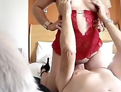 Riding Daddy element and creaming his element with cum