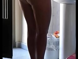 Adult naked mom Voyeur real hidden spy cam shower milf ass nude wife homemade