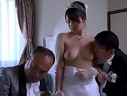 Asian Milf wife obtain stripped threads by kingpin in front of her scrimp