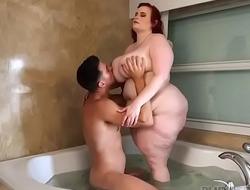 Big Booty Redhead BBW Asstyn Martyn Rides Huge Cock