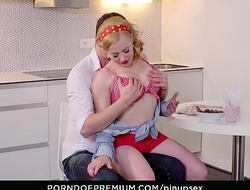 PINUP SEX - Hot sex in the kitchen with Czech pinup blonde babe Bibi Fox
