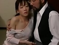 Asian Japanese MILF is molested by say no to husband's friends ahead of time say no to hubby
