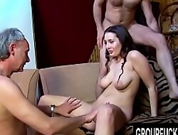 Group Fuck Site - Gorgeous Melissa Black Signs fringe a organize a Gangbang