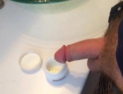 I cum in my mom's beauty cream semen facial