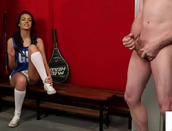 Euro femdom road tugging submissive