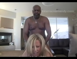 Big Max on the couch with petite blonde Mandy Monroe