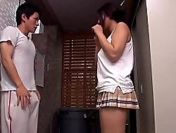 Hot Japanese married neighbor teasing me