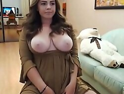 GINORMOUS Tits Chubby Teen Solo Assail