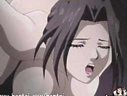 MILF slut gets fucked lasting in gangbang - Hentai.xxx