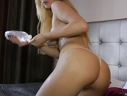 Antonia oiled and slippery