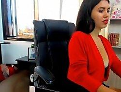 Naughty Shana plays involving the office.