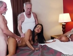 Old mature fuck and daddy boss's daughter fun Staycation with a Latin