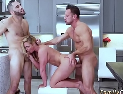 Daddy takes virginity and breed Army Boy Meets Busty Stepmom