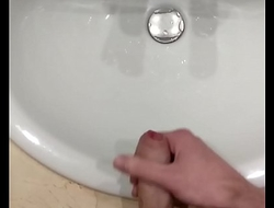 Quietly cumming after edging in shared hotel room