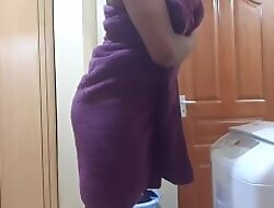 Indian Stepmom Hidden Camera After Shower Gets Horny (1)