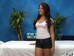 Striking teen Adriana Chechick does her best to cum