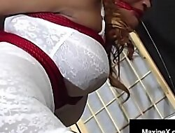 Asian Oubliette Mistress MaxineX Uses Ratchette Gag To Cum!