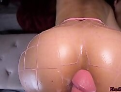 Tyro Latina MILF Bounces Big Oiled Ass on the top of Roommate's Big Cock Vanillaandcaramel