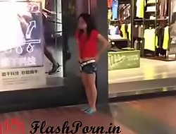 flashporn.in - horny chinese teen girl flashing and masturbating in public