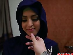 Arabic hijab bungling doggystyled after bj