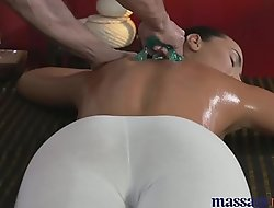 Massage Rooms Young Teen masseuse is licked and fucked by older man