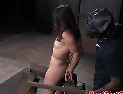 Bounce bdsm sub disciplined with many toys